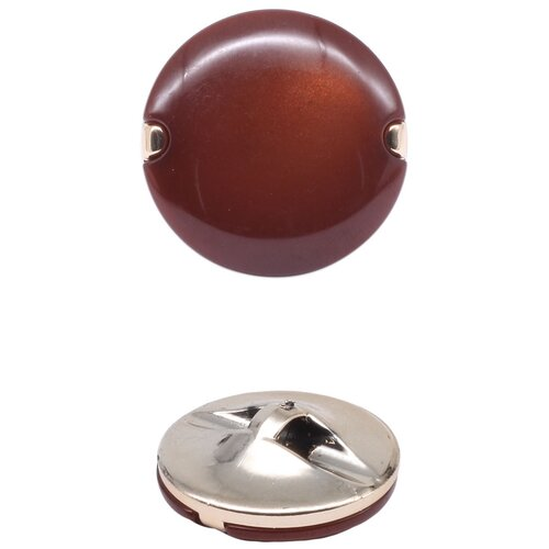 3AR155 Пуговица на ножке 34L (коричневый), 24 шт, Astra & Craft, Пуговицы  - купить со скидкой