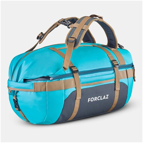 Сумка-баул для треккинга 500 Extend 40–60 литров цвет синий FORCLAZ X Декатлон