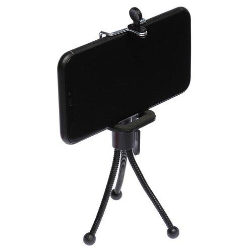 Штатив LuazON настольный для телефона компактный гибкие ножки чёрный 3629227