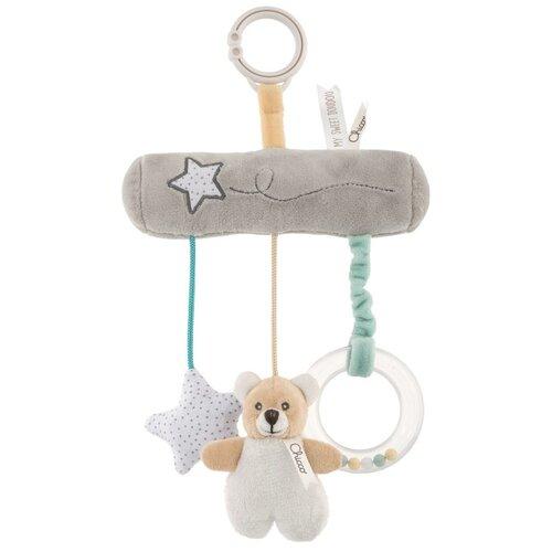 Подвесная игрушка Chicco Teddy Bear серый, Подвески  - купить со скидкой