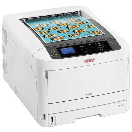 Принтер OKI C834dnw, белый/черный