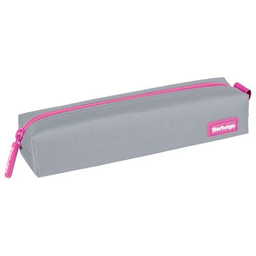 Купить Berlingo Пенал мягкий Color Zone Grey-pink (PM04430) серый/розовый, Пеналы