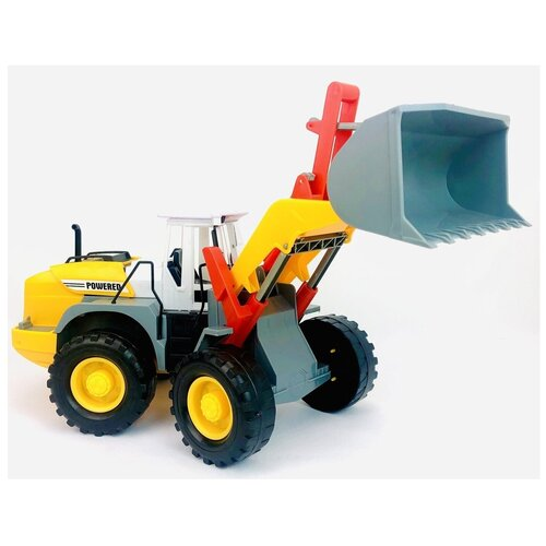 Инерционный трактор 3312 Powered, подвижный ковш, кабина, строительная техника инерционная, 39х17х15 см, Play Smart, Машинки и техника  - купить со скидкой