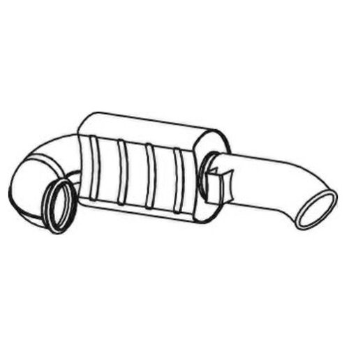 Глушитель системы выпуска задний Dinex 82611