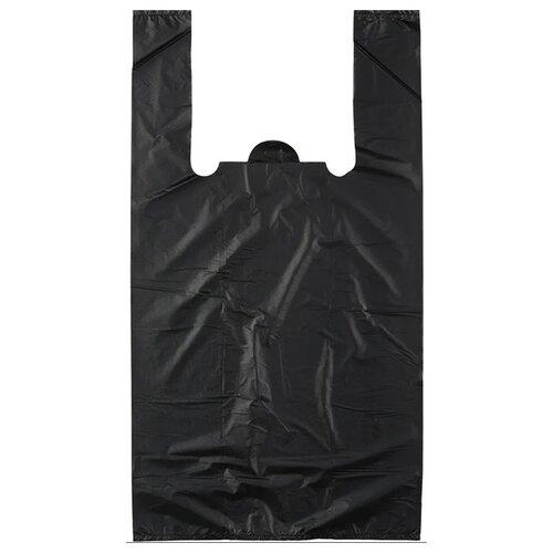 Пакет-майка OfficeClean ПНД, 37,5х57 см, 20 мкм черный 100 шт.
