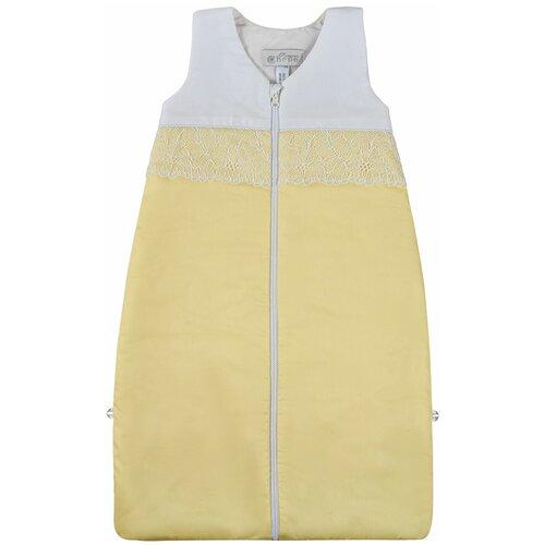 спальные конверты chepe нежность Спальный мешок Chepe for Nuovita Tenerezza / Нежность 1 предмет Бело-желтый