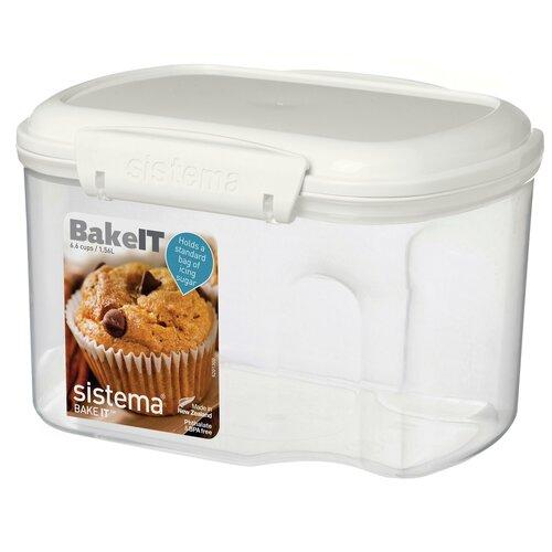 Фото - Sistema Контейнер BAKE-IT 1230, 13x18 см, прозрачный sistema контейнер с чашкой bake it 1250 13x17 5 см прозрачный