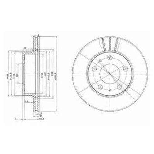 Фото - Тормозной диск Delphi BG2847 для Citroen JUMPER; Fiat DUCATO; Peugeot BOXER тормозной диск задний miles k010676 280x16 для citroen jumper fiat ducato peugeot boxer