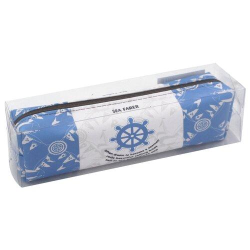 Купить ArtSpace Пенал мягкий Navy белый/голубой, Пеналы