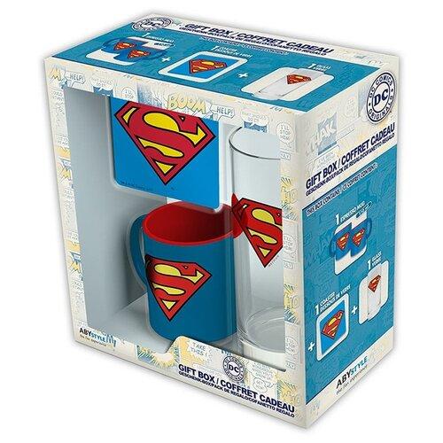 Подарочный набор DC Comics: Superman (кружка + стакан + подставка) блокнот abystyle graphic superman abynot005