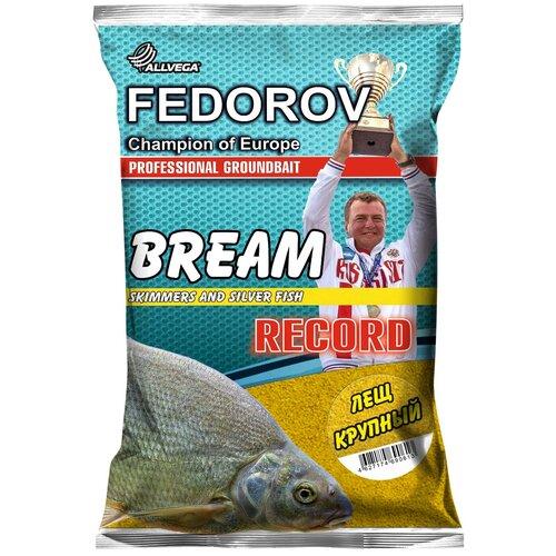 Прикормочная смесь ALLVEGA Fedorov Record Лещ крупный 1000 г коричневый