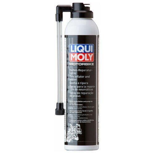 Универсальный герметик для ремонта автомобиля LIQUI MOLY Motorbike Reifen-Reparatur-Spray 1579, 300 мл прозрачный герметик для ремонта автомобиля набор для ремонта автомобиля liqui moly auspuff bandage 3344 бесцветный