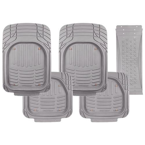 Коврики автомобильные AUTOPROFI TER-500i GY, универсальные, морозостойкие, ванночки, вырезаемые, компл. из 5 предм., 2 передних 73 х 52 см., 2 задних 48 x 52 см., перемычка 70 х 29 см.,, материал термопласт серый