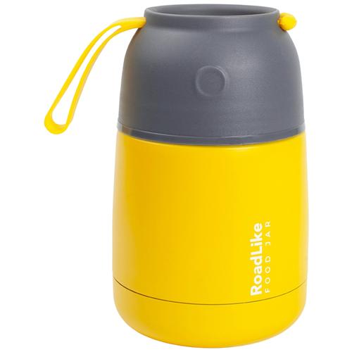 Термос для еды RoadLike Jar 420мл, желтый