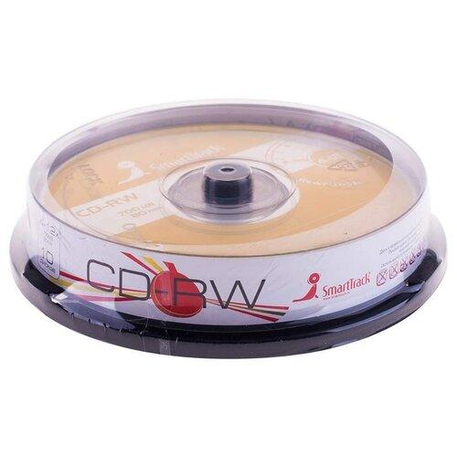 Фото - Диск CD-RW SmartTrack 700Mb 4-12x 10 шт. cake box оптический диск cd rw mirex 700mb 4 12x cake box 10шт ul121002a8l