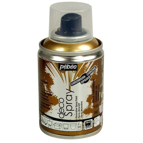 Краска decoSpray, 093782 Под золото хром, 100 мл, Pebeo