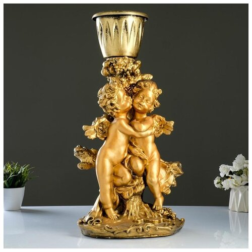 Фигурное кашпо Пара ангелов бронза 63см 1145958 фигурное кашпо пара ангелов бронза 63см 1145958