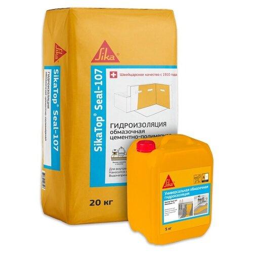 Двухкомпонентная полимерная обмазочная гидроизоляция Sika® TopSeal-107 А+В 25кг