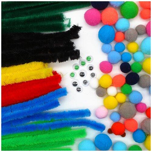 Купить Набор для детского творчества (синель, помпоны, глазки), Astra & Craft, Поделки и аппликации