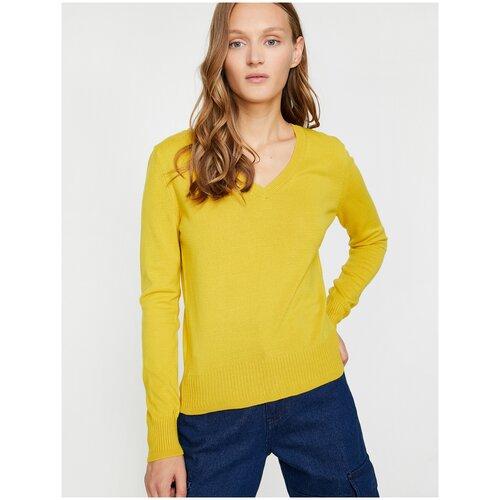 Пуловер KOTON, размер S(36), 159 горчичный