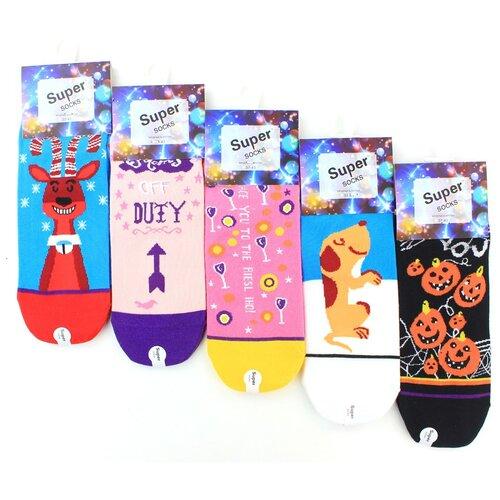 Женские носки Super Socks LTB-100 хлопок р 37-43 5 пар