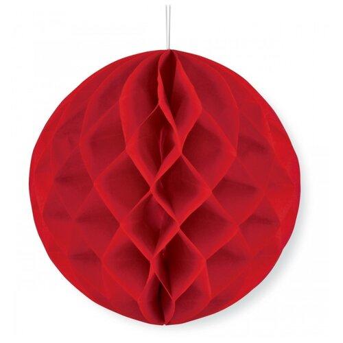 Веселый хоровод Бумажный шар красный