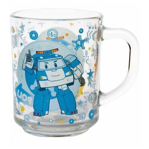 Кружка ND Play Робокар Поли, 250 мл, прозрачный/голубой