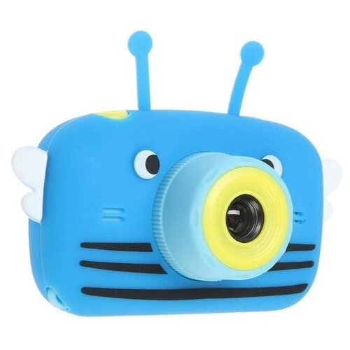 Фото - Фотоаппарат Children's Fun Camera Bee со встроенной памятью и играми синий фотоаппарат gsmin fun camera rabbit со встроенной памятью и играми голубой