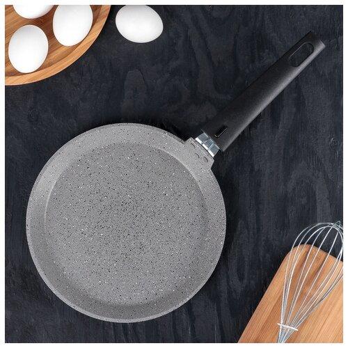 Сковорода блинная 220мм АП (светлый мрамор) 4206803 сковорода d 24 см kukmara кофейный мрамор смки240а
