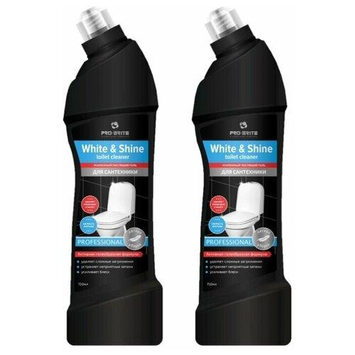 Фото - Pro-Brite гель для сантехники White & Shine Toilet Cleaner Свежесть Арктики, 2 шт., 0.75 л pro brite гель для сантехники active shine bleach cleaner цветочная свежесть 0 75 л