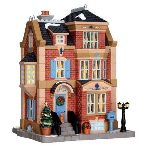 фигурка lemax платформа с рождественскими игрушками 10 4 x 18 x 10 см красный зеленый Фигурка LEMAX Резиденция Эндрюс 21.8 x 17.2 x 14.2 см красный/бежевый/черный