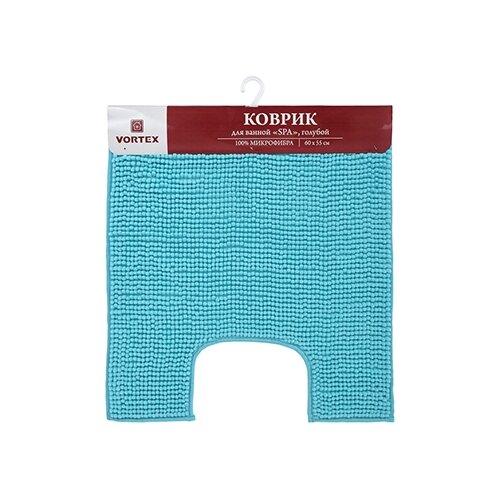 Фото - Коврик для ванной SPA 60*55, голубой, под унитаз VORTEX/10 коврик для ванной spa 50 80 бежевый vortex 10