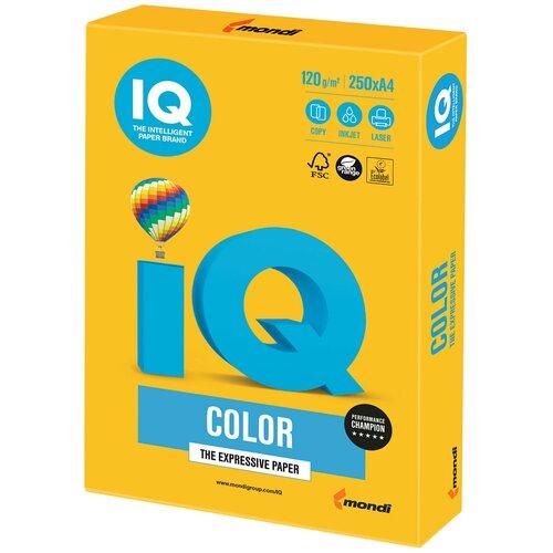 Фото - Бумага IQ Color А4 120 г/м² 250 лист., солнечно-желтый SY40 бумага brauberg а4 122623 115 г м2 25 лист