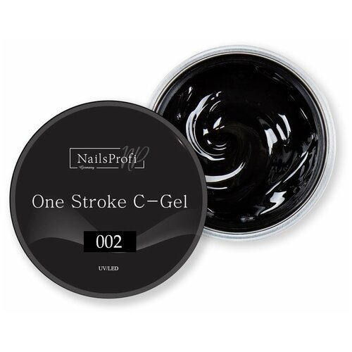 Купить Краска гелевая NailsProfi One Stroke C-Gel 002