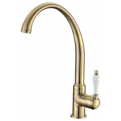 Смеситель для кухни (мойки) KAISER Vincent 31333-3 bronze однорычажный бронза/белый
