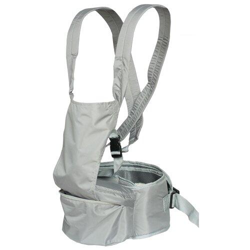 Купить Хипсит-эргорюкзак Чудо-Чадо Непоседа, серый, Рюкзаки и сумки-кенгуру