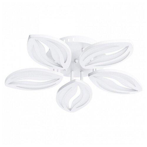 Люстра на штанге Arte Lamp, 5х4,4W, белый, размеры (мм)-590x100, 4000-5500К, плафон - белый