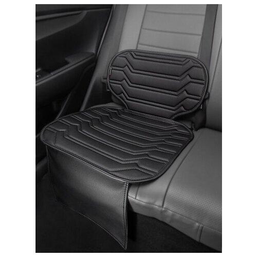 Чехлы (накидки) под бустеры. Защита сидений авто. Цвет: черный. 1 шт. КОЛИБР