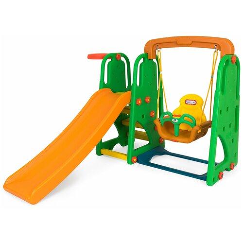 Купить Детский игровой комплекс Happy Box JM-831P Винни Пух для дома и улицы: детская горка, баскетбольное кольцо (производитель Южная Корея), Игровые и спортивные комплексы и горки