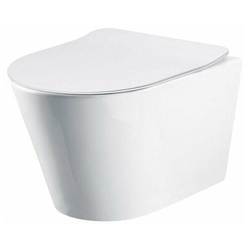 Чаша унитаза подвесная BelBagno Flay-R (подвесной, без сиденья) с горизонтальным выпуском