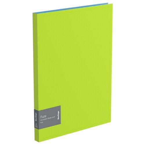 Купить Berlingo Папка с 20 вкладышами Fuze А4, 14 мм, 600 мкм, пластик салатовый, Файлы и папки