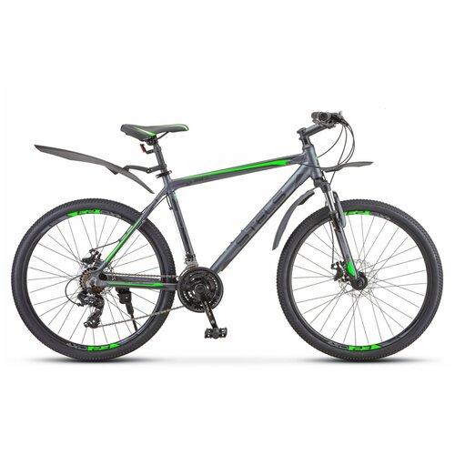 велосипед stels navigator 620 md 26 v010 19 тёмно синий Горный (MTB) велосипед Stels Navigator 620 MD 26 V010 (2019) 19 антрацитовый (требует финальной сборки)