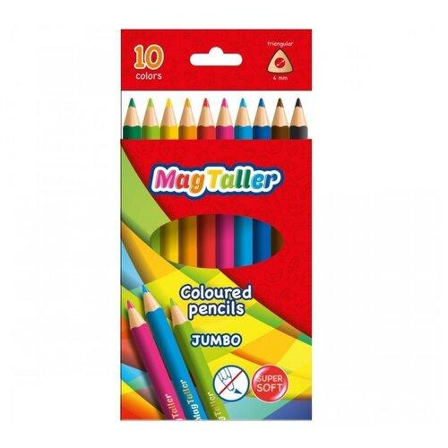 Купить MagTaller Карандаши цветные толстые Kuvio Jumbo, 10 цветов (542021), Цветные карандаши
