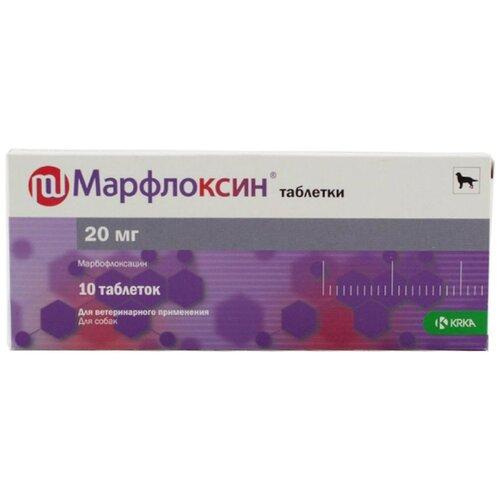 Фото - KRKA Марфлоксин таблетки для собак средних пород, вкус мяса, 20 мг 10 таблеток таблетки krka d d рикарфа 50 мг 20шт в уп