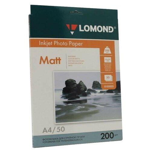 Фото - Бумага Lomond A4 Photo Paper 0102033 200 г/м² 50 лист., белый бумага lomond a4 photo paper 0102003 120 г м² 100 лист белый