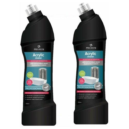 Фото - Pro-Brite гель для акриловых ванн и душевых кабин Acrylic Cleaner, 2 шт., 0.75 л pro brite гель для сантехники active shine bleach cleaner цветочная свежесть 0 75 л