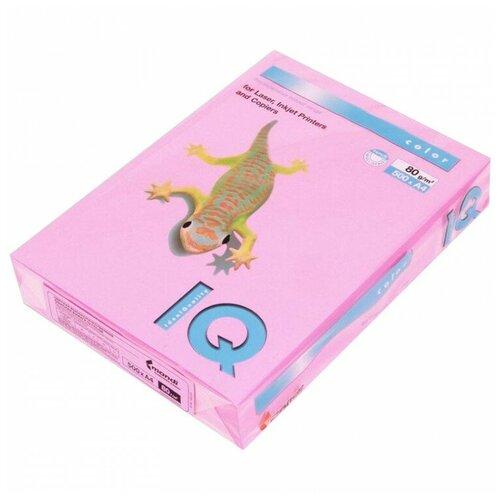 Фото - Бумага IQ Color A4 80 г/м² 500 лист., розовый неон NEOPI бумага iq color a4 80 г м² 250 лист 5 цв х 50 л тренд rb03
