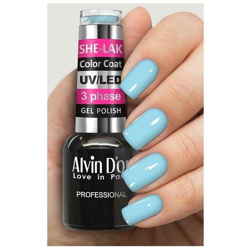 Купить Гель-лак для ногтей Alvin D'or She-Lak Color Coat, 8 мл, 35137