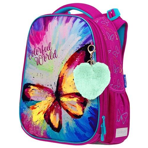 Купить Berlingo Ранец Expert Colorful butterfly, фиолетовый/сиреневый/бирюзовый, Рюкзаки, ранцы