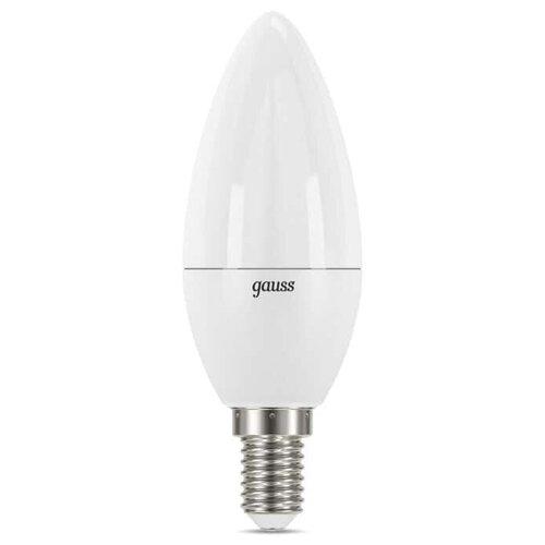 Лампа светодиодная gauss 103101207-D, E14, C38, 7Вт